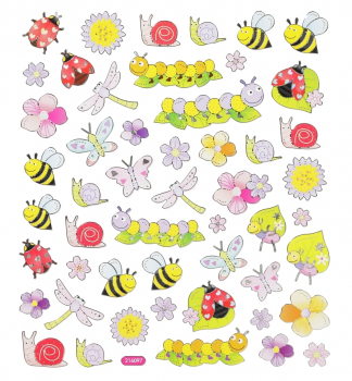 "HobbyFun ""Tierchen"" Aufkleber, Design-Sticker-Set"