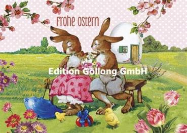 """41 /""""Ostereier-Malen im Hühnerstall/"""" Osterkarte Postkarte Grußkarte Inge Löök Nr"""