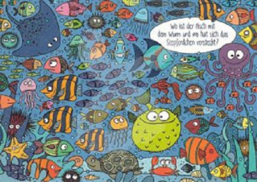 "Charis Bartsch Nr PK5852 /""Wo ist der Käfer.?/"" Postkarte Wimmelkarte Postcrossing"