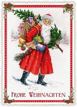 """Edition Tausendschön /""""Frohe Weihnachten/"""" Engel Weihnachtsbaum PK749 Postkarte"""