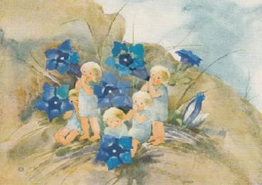 """/""""Denn es ist uns ein Kind geboren/"""" Postkarte Mili Weber"""