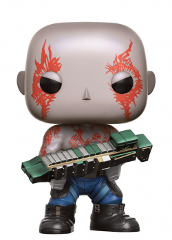 "funko - Guardians of the Galaxy Vol.2, POP! ""Drax"": Vinyl Figur mit Wackelkopf, Größe: 9 cm"
