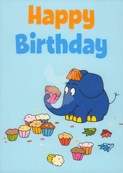 Schmitt Menzel Happy Birthday Elefant Sendung Mit Der Maus Größe 105x15 Cm