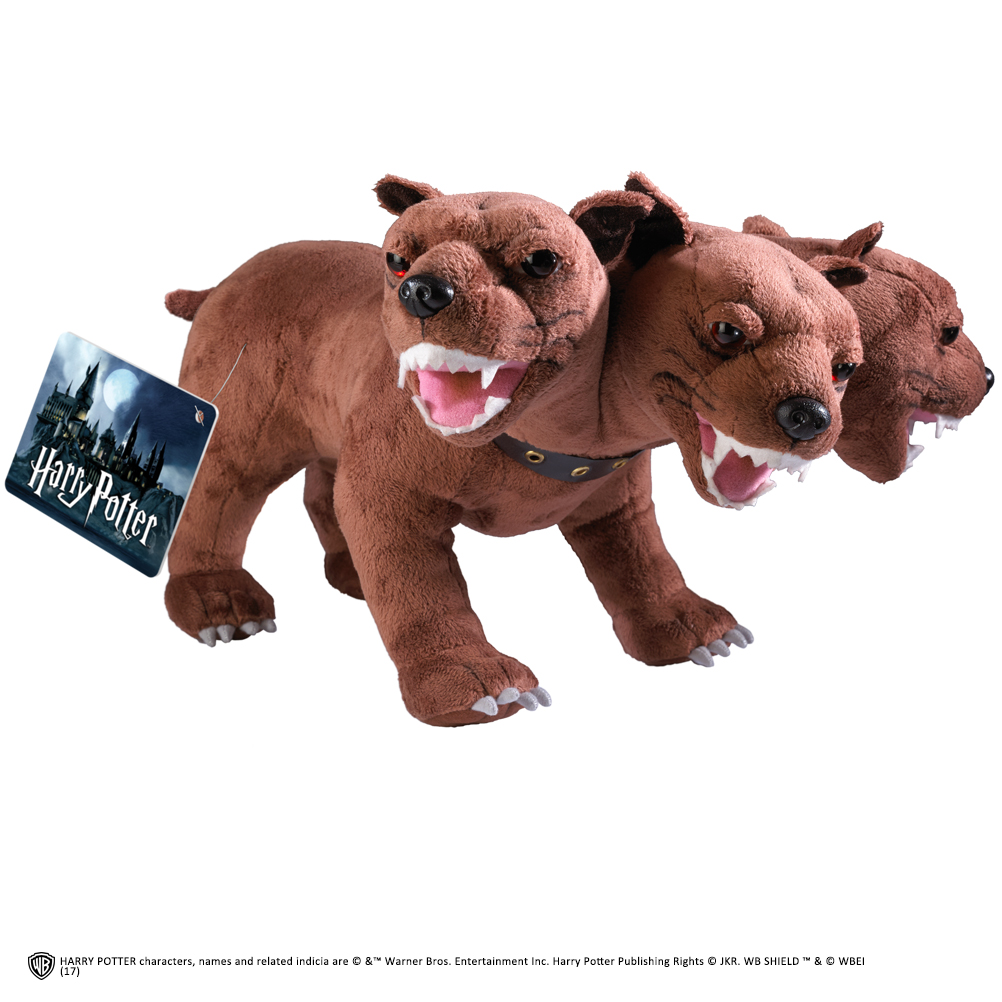 The Noble Collection Original Harry Potter 3 Headed Guard Dog Fluffy Plush Dog 30cm