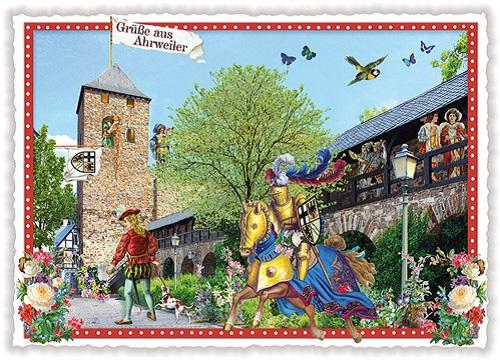 Edition Tausendschön Gruss aus Wien PK123 Postkarte Grußkarte Postcrossing Pferd